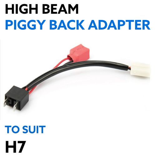 Piggy Back Adapter H7 for High Beam Wiring Adapter