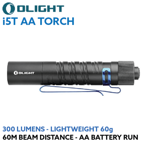 Olight i5T EOS 300 lumen AA LED torch
