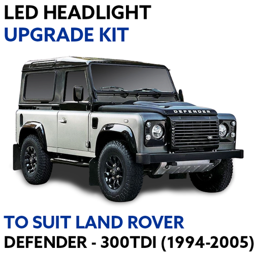 LED Headlight Upgrade Kit for Land Rover Defender 300TDI (1994-2005)