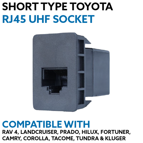 Short RJ45 UHF Socket to Suit Toyota 200 Series/Prado 150/Hilux/Fortuner/Rav4