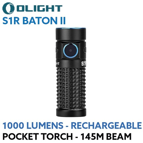 OLIGHT S1R Baton II rechargeable 1000 lumen LED pocket torch
