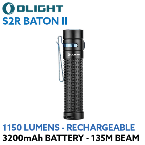 OLIGHT S2R Baton II 1150 lumen rechargeable LED torch