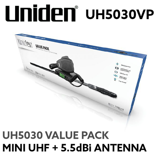 Uniden UH5030VP Mini Compact UHF + 5.5 dBi Antenna Value Pack