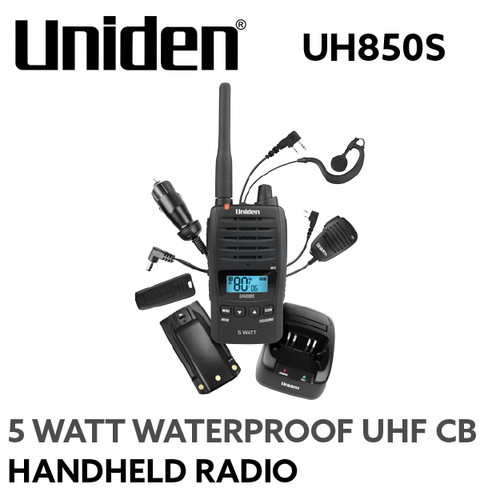 UH850S UNIDEN 5 Watt UHF Waterproof CB Handheld Radio
