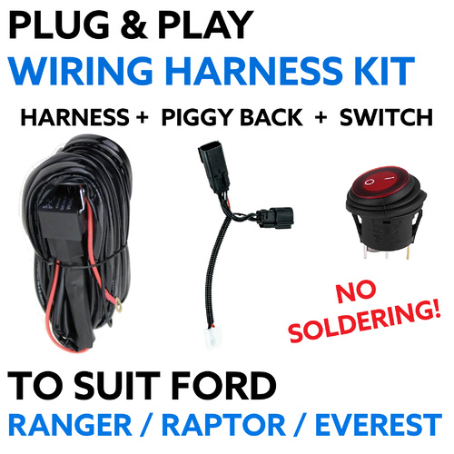 Plug & Play Wiring Harness Suit Ford Ranger & Everest