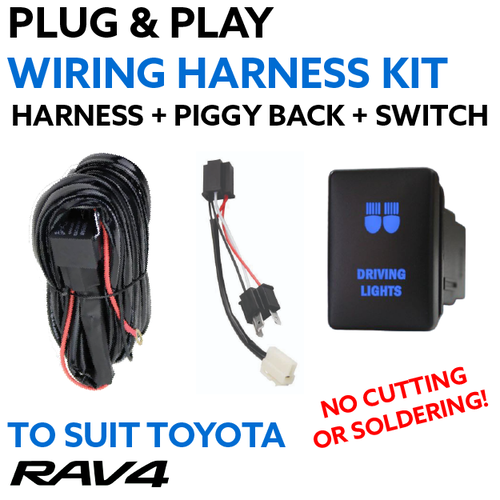 Toyota RAV4 (2006-2011) Plug and Play Driving Light / Lightbar Wiring Harness Kit